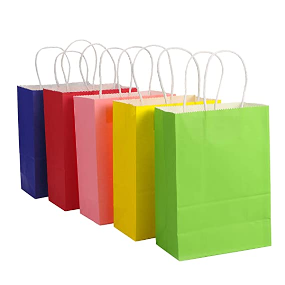 Amazon.com: toymytoy bolsa de regalo, bolsas de papel Kraft ...