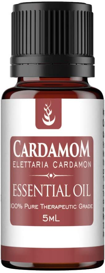Cardamom Essential Oil (5 ml) by Pure, Convenient Dropper Cap Bottle, Food Safe, Promotes Digestive, Gastrointestinal, & Respiratory Health, Adds Exotic Flavor to Cooking