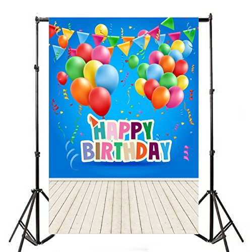 OFILA Happy Birthday Backdrop 3x5ft Kids Birthday Photograph