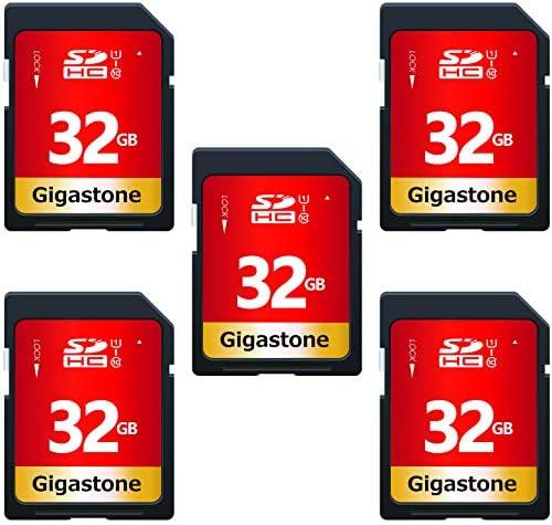 Gigastone 32GB 5 Pack SD Card UHS-I U1 Class 10 SDHC Memory Card High-Speed Full HD Video Canon Nikon Sony Pentax Kodak Olympus Panasonic Digital Camera