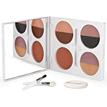 Sheer Cover Studio – Sophisticate All-Over Face Palette – Includes Eyeshadows – Lipglosses – Blush – with FREE Blending Brush – 2 Pieces