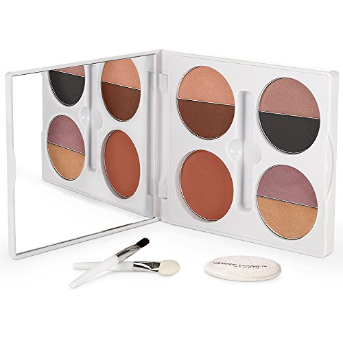 - Sheer Cover Studio - Sophisticate All-Over Face Palette - Includes Eyeshadows - Lipglosses - Blush - with FREE Blending Brush - 2 Pieces