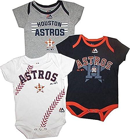 Houston Astros Creeper Bodysuit Set (Houston Astros Baby Set)