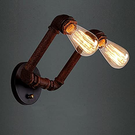 Copper//Black Retro Vintage Wall Lights Rustic Wall Sconce  E27 Lamp Iron Cage CR