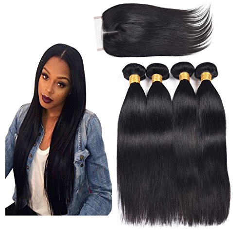 Ali-AMY-Peruvian-Straight-Human-Hair-4-Bundles-With-Closure-Middle-Part-Uprocessed-Peruvian-Virgin-Hair-Natural-Hair-Color