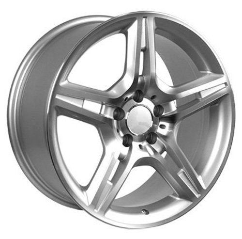 17-inch Fits Mercedes Benz - AMG Aftermarket Wheels - Silver Machined Face 17x8 - Set of 4