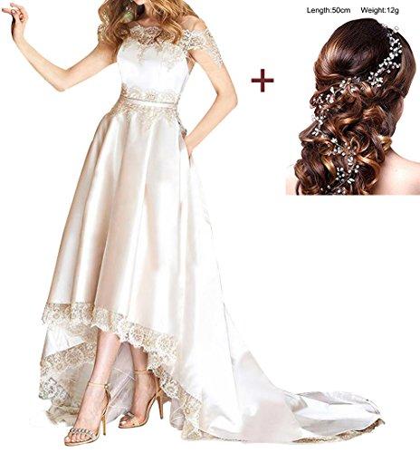 Annies Mariée En Mousseline De Soie Formelle De Robe De Bal Longue Et Robe De Soirée En Dentelle Robe De Mariée Pour White9