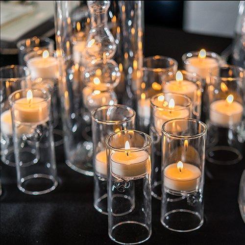 Glass Luminary (Weddingstar 9247 Blown Glass Miniature Tealight Luminaries)