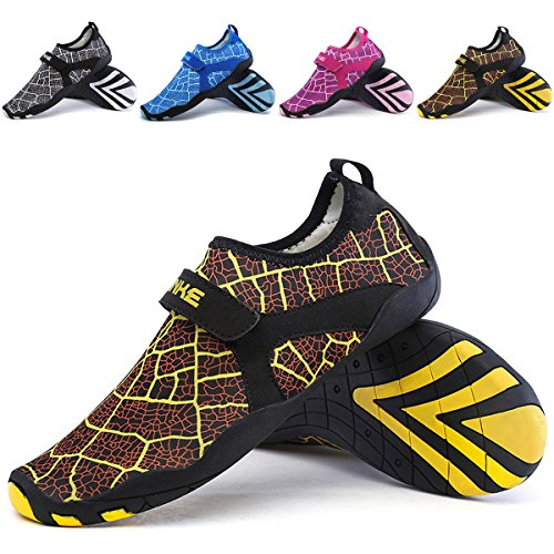 L-RUN Mens Outdoor Shoes Comfortable Light not Deformed Amphibious Shoes Yellow XL(M:8-9)=EU 41-42