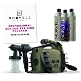 Norvell Sunless Kit - Radiance 1800 HVLP Spray Tan Airbrush Machine System + 8 oz Tanning Solutions in Clear Plus, Venetian and Dark + Norvell Training Program (Retail Value $520)