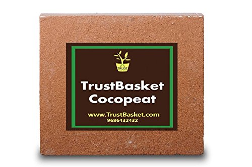 Trust Basket Cocopeat Block - Expands To 75 Litres Of Coco Peat Powder ,Brown