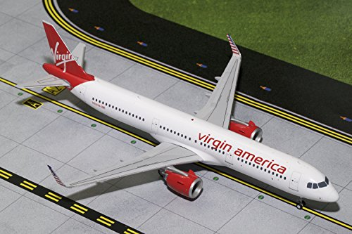 Gemini200 Virgin America A321neo N921VA 1:200 Scale Diecast Model Airplane Die Cast Aircraft