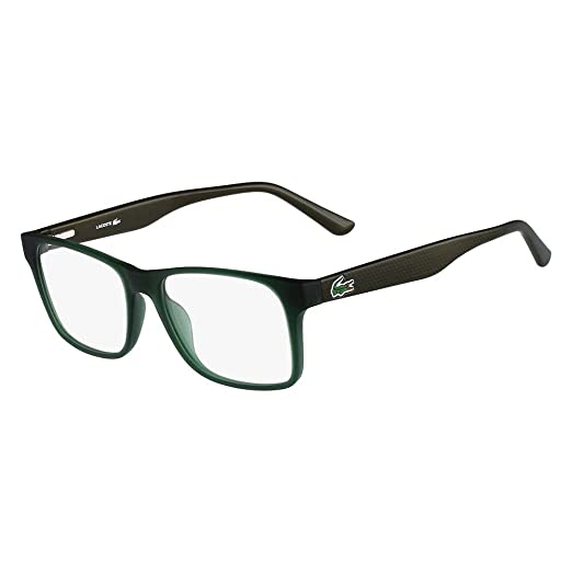 37ab16b085 Eyeglasses LACOSTE L 2741 315 GREEN MATTE at Amazon Men s Clothing store