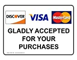 ComplianceSigns Vinyl Payment Policies Label, 10 x 7 in. with English, White