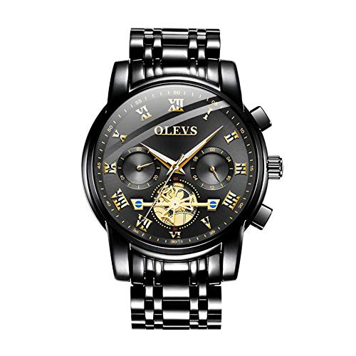 WooyMo Automatic Men's Mechanical Watches, Waterproof Stainless Steel Analog Wrist Watch Swiss Watches with HD Luminous for Men, Luxury Fashion Quartz Watches