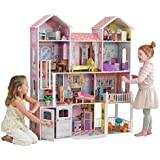 KidKraft 65242 Country Estate wooden Dollhouse with 4 levels of play and 31 accessories included