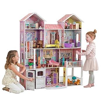 KidKraft 65242 Maison de poupées en bois Country Estate incluant  accessoires et mobilier, 4 étages 9f5a399afb5c