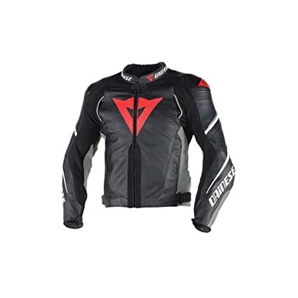 54e4afb0bf4 Amazon.com: Dainese Super Speed D1 Motorcycle Jacket Black/Gray/Red (EU 52  -US 42): Automotive