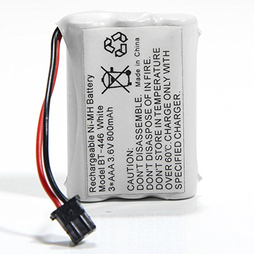 (800mAh 3.6V Rechargeable Ni-MH Cordless Phone Battery BT-446 for Uniden BT446 BT504 BT909 BT1005 BP446 TRU9465 TRU8888 UIP1868 Radio Shack TAD-3704 TAD-3815)