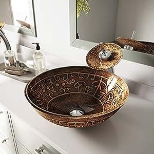 VIGO Golden Greek Glass Vessel Bathroom Sink - - Amazon.com