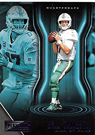 2018 Playbook Purple Parallel Football  7 Ryan Tannehill Miami Dolphins  Official NFL Card Produced by 816881c9c