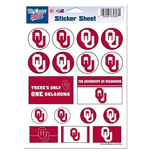 Ncaa Oklahoma Sooners Decal (NCAA University of Oklahoma Vinyl Sticker Sheet, 5