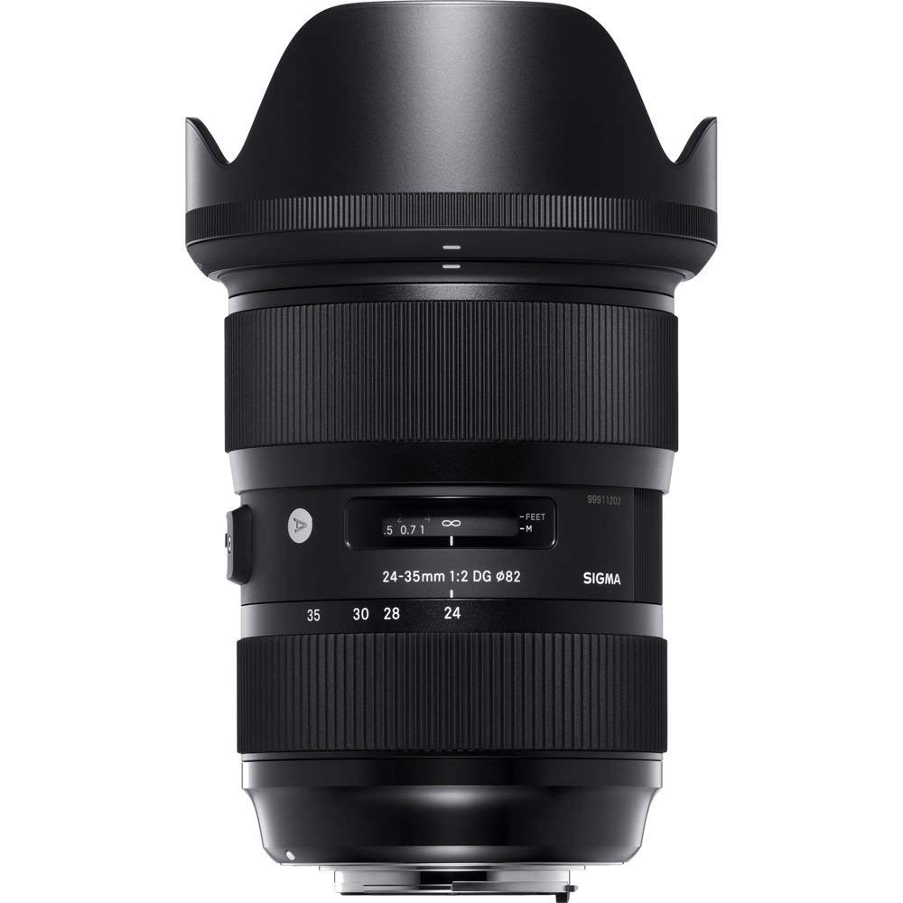 Sigma 24-35mm f/2 DG HSM Art Lens for Nikon F for Nikon F Mount + Accessories (International Model with 2 Year Warranty)