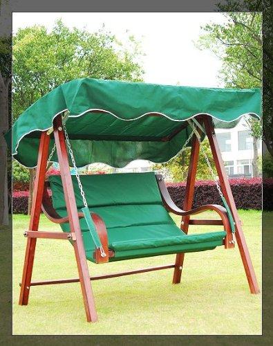 Aosom Cypress Wooden Patio Swing Bench Chair W/canopy 0113