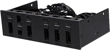6 canal 3 pines 4 pines Ordenador CPU Cooler Ventilador ...