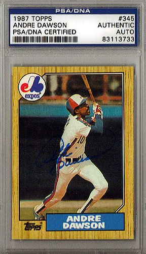 Psa / Dna Baseball (Andre Dawson Signed 1987 Topps Trading Card - PSA/DNA Authentication - Autographed MLB Baseball)