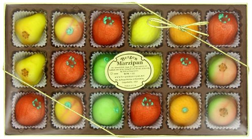 Bergen Marzipan M-1 Assorted Fruit, 8 Ounce ()