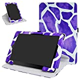 """RCA 10 Viking Pro 10.1 Rotating Case,Mama Mouth 360 Degree Rotary Stand With Cute Lovely Pattern Cover For 10.1"""" RCA 10 Viking Pro Tablet,Giraffe Purple"""