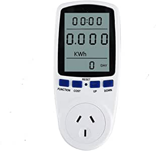 Plug Power Meter Energy Watt Voltage Amps Meter with Electricity Usage Monitor (AU Gauge Plug)
