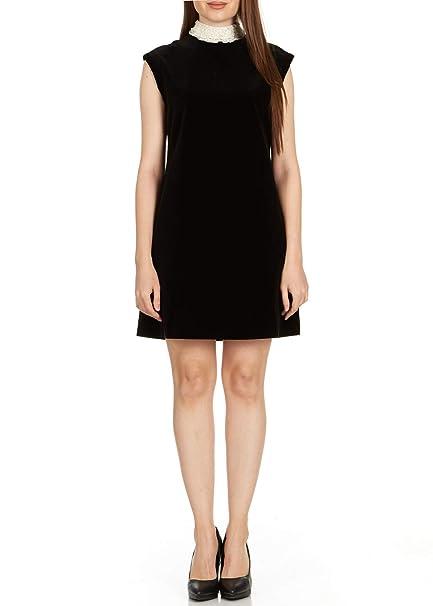 Dior Womens Black Lace Collar Sleeveless Dress At Amazon