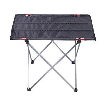 Niocase Mesa Plegable Camping, Portátil Ultraligero Compacta Mesa ...