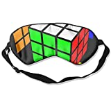 Sleep Mask Rubik's Cube World Eye Cover Blackout Eye Masks,Soothing Puffy Eyes,Dark Circles,Stress,Breathable Blindfold