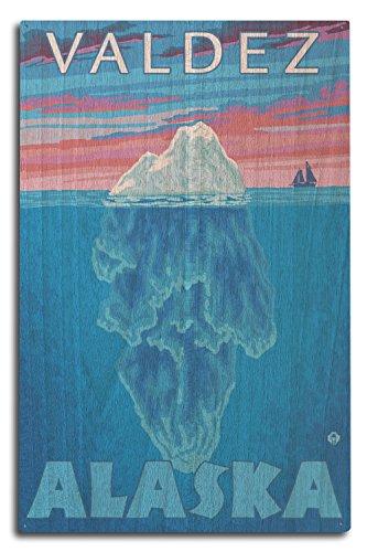 Valdez, Alaska - Iceberg Cross-Section (10x15 Wood Wall Sign, Wall Decor Ready to Hang)