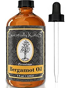 Bergamot Essential Oil 4 oz. with glass dropper by Essentially KateS.