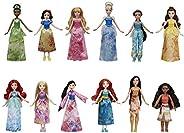 Disney Princess Royal Collection, 12 Fashion Dolls -- Ariel, Aurora, Belle, Cinderella, Jasmine, Merida, Moana