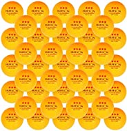 50-Pack 3-Star 40+ ABS Ping Pong Balls, Advanced Training Table Tennis Balls for Beginners and Professinals, w