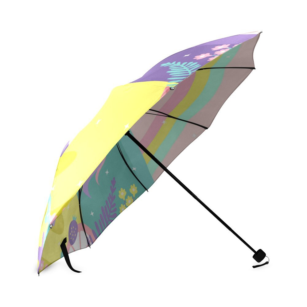 Amazon.com: Colorful magic world background with unicorn Design Folding Umbrella Sun Rain Travel Umbrella Anti UV Wind Resistant: Sports & Outdoors