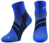 ZaTech Plantar Fasciitis Sock, Compression Socks for Men & Women. Heel, Ankle & Arch Support. Increase Blood Circulation, Reduce Swelling, Foot Pain Relief. (Blue/Black, Small)