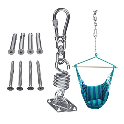 INNI Stainless Steel Hammock Chair Hanging Kit Ceiling Mount Spring Swivel Snap Hook Accessories by INNI