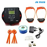 JK TECH Small Medium Large Dog Rechargeable Pet Fence System Waterproof Shock Dog Collar for 2 or 3 Dogs (for 2 dogs) Review