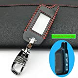 X5 LCD Remote Control Fob Key, for Tamarack X5 Vehicle Safety Two Way Car Alarm System for Russian Version Car Key Case Cover Color Name red line