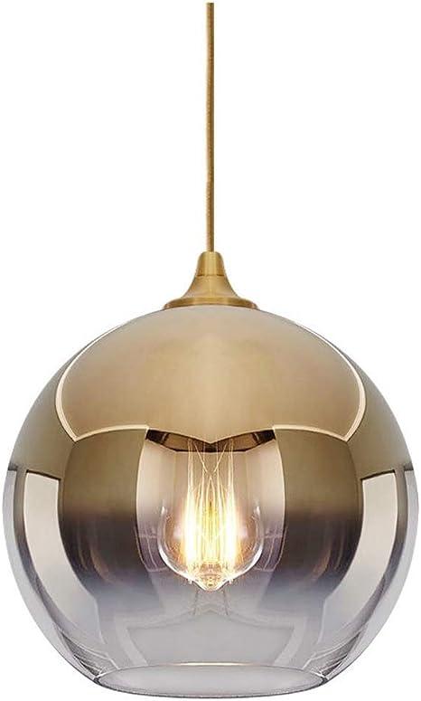 Modern Light Luxury Ceiling Light Bedroom Glass Hang Lamp Champagne Gold Pendant Light Creative Retro Fixture Amazon Com