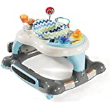 Storkcraft 3-in-1 Activity Walker and Rocker with Jumping Board and Feeding Tray, Interactive Walker with Toy Tray and Jumping Board for Toddlers and Infants- Blue