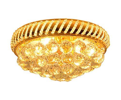 Mini Ceiling Light Flush Mount 4-Light Crystal Lighting Modern Fixture for Bedroom, Hallway, Bar, Kitchen,Living Room