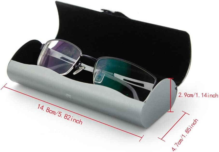 Ezeso 15.2x4.9x3.2cm Deep Pewter Aluminium-Brillenetui schlichtes Design