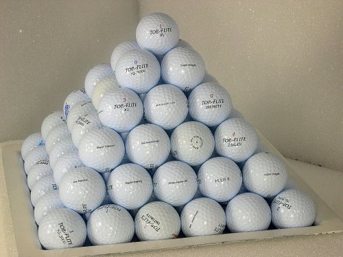 (AAA Top-Flite Mix 50 Pack used golf balls )